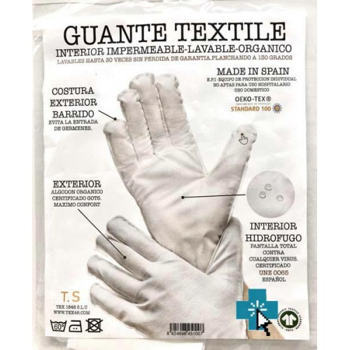 Guante Textile Lavable T-S