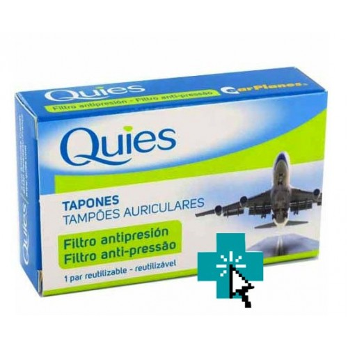 Quies Earplanes Tapones Filtro Antipresión