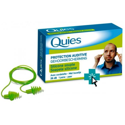 Quies Tapones de Silicona Flexible con Cordoncillo
