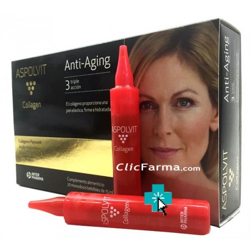 Aspolvit Collagen Anti Aging 20 ampollas