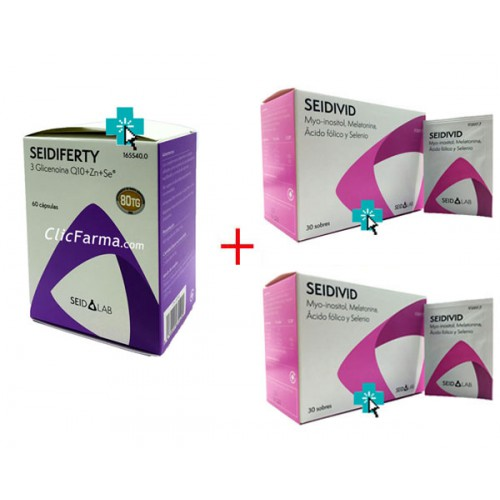 Seidiferty (60 caps) + 2 Seidivid (30+30 sobres)