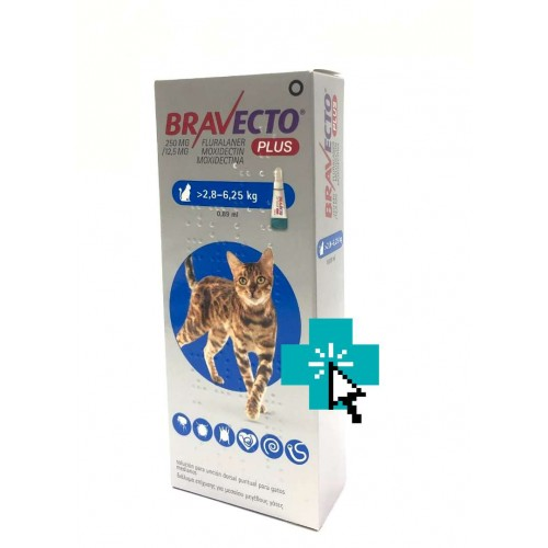 Bravecto Plus Gatos 2.8-6.25 kg
