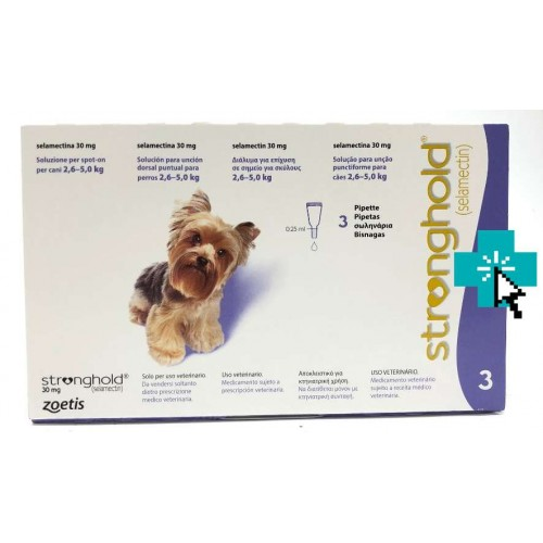 Stronghold Perros 2.6-5 kg 3 Pipetas