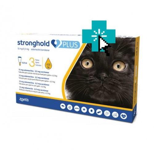 Stronghold Plus Gatos <2.5 kg 3 Pipetas