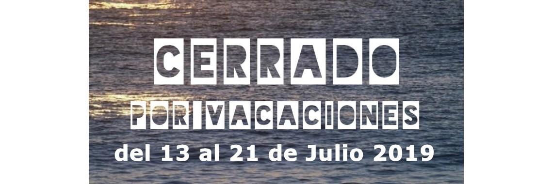 cerrado por vacaciones julio 2019