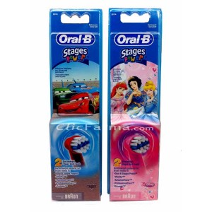 Oral B Stages Power Recambio Cepillo Dientes Electrico Cars o Princesa