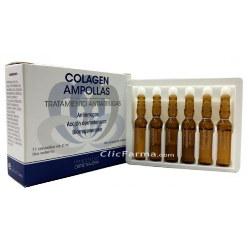 Colagen Ampollas Antiarrugas Vitamina C y Centella