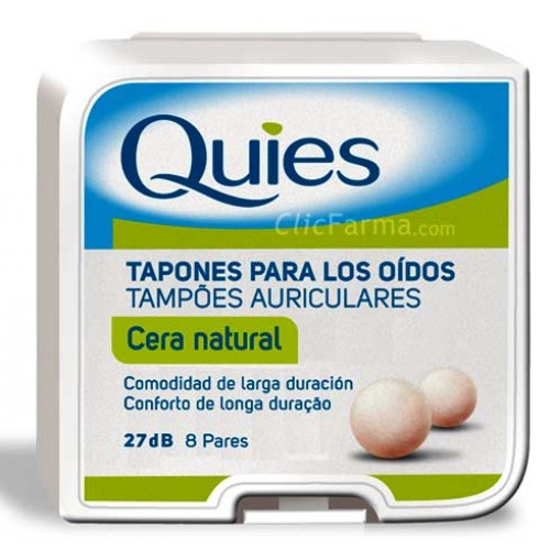 Quies Tapones Cera Natural Para los Oídos